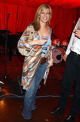 GMTV Presenter KATE GARRAWAY at a party to celebrate the launch of Dkkor Records at Kettners, Romilly Street, Soho, London on 31st March 2005.<br />