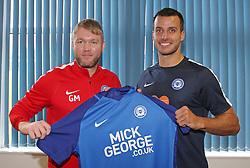 Peterborough United Manager Grant McCann welcomes new signing, former Newcastle United defender Steven Taylor - Mandatory by-line: Joe Dent/JMP - 25/07/2017 - FOOTBALL - ABAX Stadium - Peterborough, England - Steven Taylor Signing