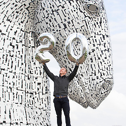 Sir Chris Hoy visits The Kelpies in Falkirk
