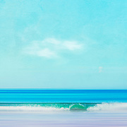 Abstract seascape with emerald colored wave