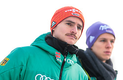 02.01.2018, Seefeld, AUT, FIS Weltcup Ski Sprung, Vierschanzentournee, Innsbruck, im Bild Richard Freitag (GER), Andreas Wellinger (GER) während eines Medientermins des DSV // Richard Freitag of Germany, Andreas Wellinger of Germany during a Media Event of the German Skijumping Team before the 3rd Stage Insbruck of the Four Hills Tournament of FIS Ski Jumping World Cup at Seefeld, Austria on 2018/01/02. EXPA Pictures © 2018, PhotoCredit: EXPA/ JFK