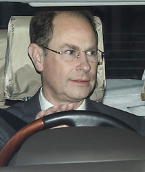 © Licensed to London News Pictures. 18/12/2019. London, UK. PRINCE EDWARD, EARL OF WESSEX. Members of the Royal Family seen leaving Buckingham Palace in West London after attending the Queen's annual Christmas lunch. Photo credit: Ben Cawthra/LNP