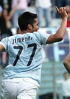 Fotball<br /> Italia Serie A<br /> Foto: Inside/Digitalsport<br /> NORWAY ONLY<br /> <br /> Luis Jimenez (Lazio) celebrates after scoring<br /> <br /> 6 May 2007 (Match Day 35)<br /> <br /> Lazio v Livorno (1-0)