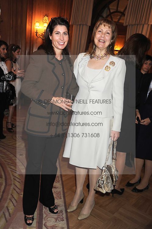 Left to right, NATHALIE REBEIZ and MARIS SHAMMAS at a fashion show and lunch in aid of  AMAR International Charitable Foundation held at The Dorchester, Park Lane, London W1 on 9th October 2008.