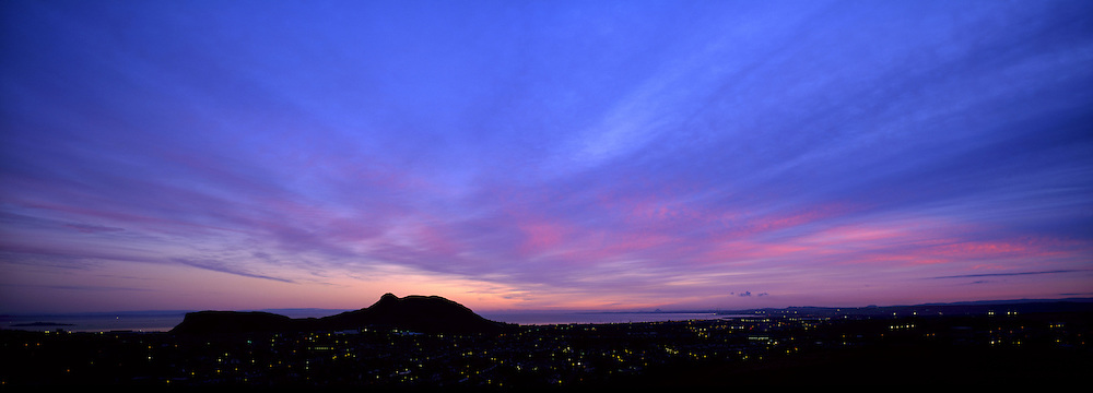 Sunrise over Edinburgh from Blackford Hill
