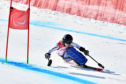 SCHAFFELHUBER Anna LW10-2 GER competing in ParaSkiAlpin, Para Alpine Skiing, Super G at PyeongChang2018 Winter Paralympic Games, South Korea.
