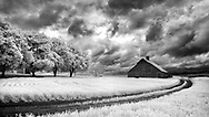 Infrared photo of old barn in Palouse