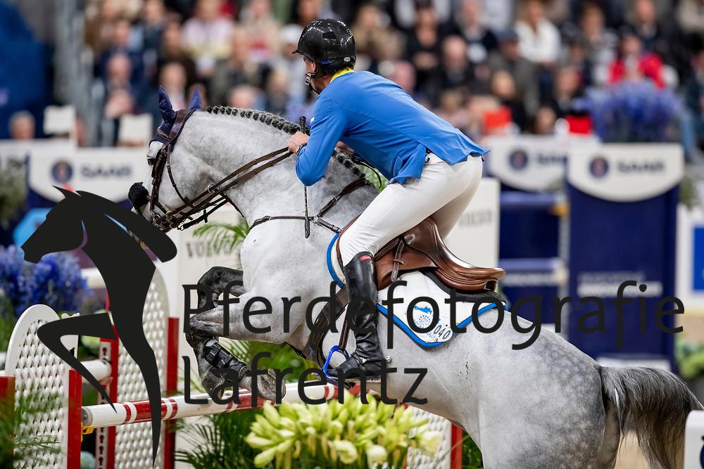 AHLMANN Christian (GER), Clintrexo Z<br /> Göteborg - Gothenburg Horse Show 2019 <br /> Longines FEI World Cup™ Final II<br /> Int. jumping competition with jump-off (1.50 - 1.60 m)<br /> Longines FEI Jumping World Cup™ Final and FEI Dressage World Cup™ Final<br /> 05. April 2019<br /> © www.sportfotos-lafrentz.de/Stefan Lafrentz