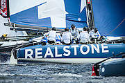 Realteam, day one of the Cardiff Extreme Sailing Series Regatta. 22/8/2014