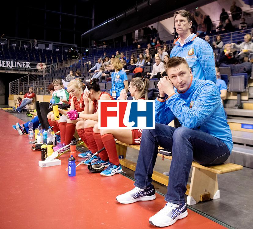 BERLIN - Indoor Hockey World Cup<br /> Women: Kazakhstan - Belarus<br /> foto: herman Kruis.<br /> WORLDSPORTPICS COPYRIGHT FRANK UIJLENBROEK