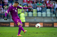Poland's goalkeeper Wojciech Szczesny during international friendly match between Poland and Lithuania at PGE Arena in Gdansk, Poland.<br /> <br /> Poland, Gdansk, June 06, 2014<br /> <br /> Picture also available in RAW (NEF) or TIFF format on special request.<br /> <br /> For editorial use only. Any commercial or promotional use requires permission.<br /> <br /> Mandatory credit:<br /> Photo by © Adam Nurkiewicz / Mediasport