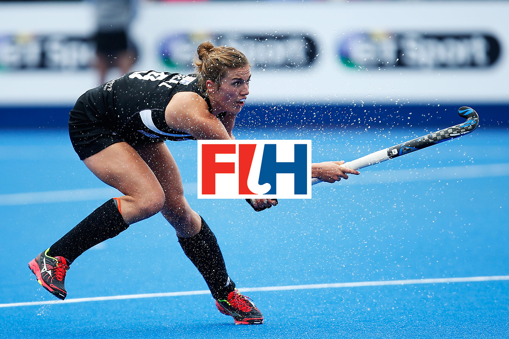 LONDON, ENGLAND - JUNE 18:  Brooke Neal of New Zealand  during the FIH Women's Hockey Champions Trophy 2016 match between Netherlands and New Zealand at Queen Elizabeth Olympic Park on June 18, 2016 in London, England.  (Photo by Joel Ford/Getty Images)