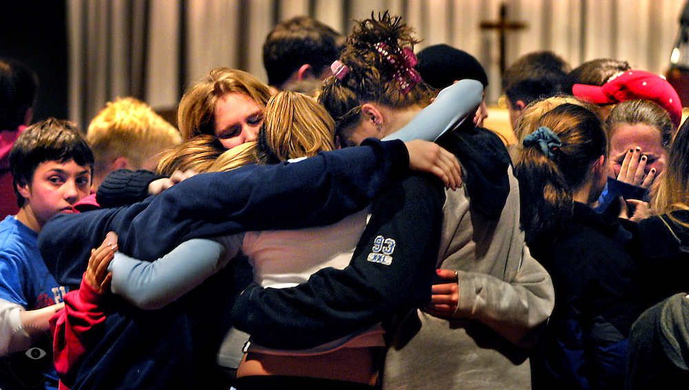 Vigil for Miranda Gaddis and Ashley Pond at the Oregon City Christian Church. It was eventually discovered the two were killed by former neighbor Ward Weaver.