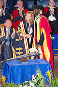13.JULY.2012. <br /> <br /> BOLTON WANDERERS MIDFIELDER IS PRESENTED WITH HONORARY DOCTORATE FROM THE UNIVERSITY. <br /> HE IS AMONG 11 OTHERS BEING HONOURED. HE SUFFERED FROM A CARDIAC ARREST DURING AN FA CUP TIE IN MARCH.<br /> <br /> BYLINE: EDBIMAGEARCHIVE.CO.UK<br /> <br /> *THIS IMAGE IS STRICTLY FOR UK NEWSPAPERS AND MAGAZINES ONLY*<br /> *FOR WORLD WIDE SALES AND WEB USE PLEASE CONTACT EDBIMAGEARCHIVE - 0208 954 5968*