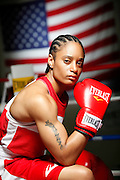 6/24/11 2:44:19 PM -- Colorado Springs, CO. -- A portrait of U.S. Olympic lightweight boxer Queen Underwood, 27, of Seattle, Wash. who will be competing for her fifth title. She began boxing in 2003 and was the 2009 Continental Champion and the 2010 USA Boxing National Champion. She is considered a likely favorite to medal at the 2012 Summer Olympics in London as women's boxing makes its debut as an Olympic sport. -- ...Photo by Marc Piscotty, Freelance.