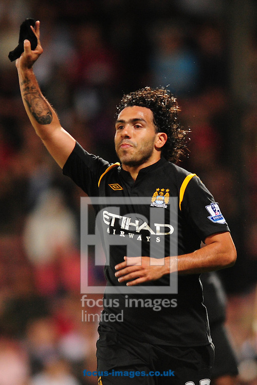 Football - London - Thursday, August 27th, 2009: Carlos Tevez of Manchester City celebrates his goal during the Carling Cup 2nd Round match at Selhurst Park. ..(Pic by Alex Broadway/Focus Images)