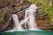 Cameron Fall, Waterton Lakes National Park, Alberta, Canada.