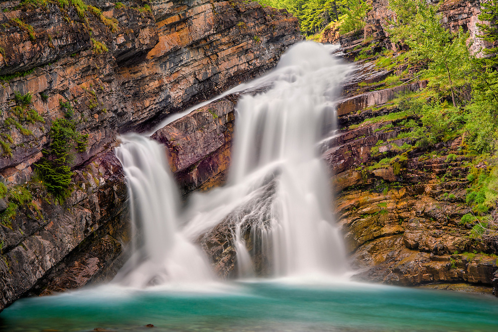 Cameron Fall, Waterton Lakes National Park, Alberta, Canada.