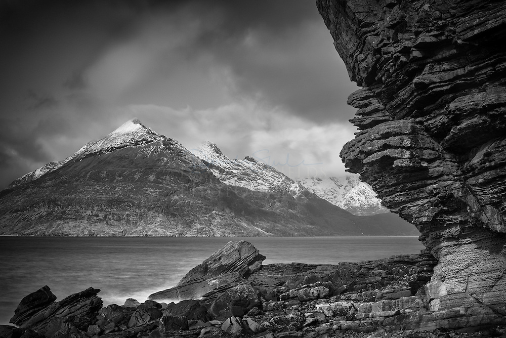 The Jurassic cliffs of Elgol to Gars Bheinn, Isle of Skye, Scotland.