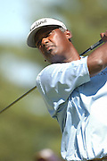 Jul 30, 2005; Grand Blanc, MI, USA; Tournament leader Vijay Singh tees off on the ninth hole during play Saturday at the 2005 Buick Open, Warwick Hills Golf & Country Club Copyright © 2005 Kevin Johnston