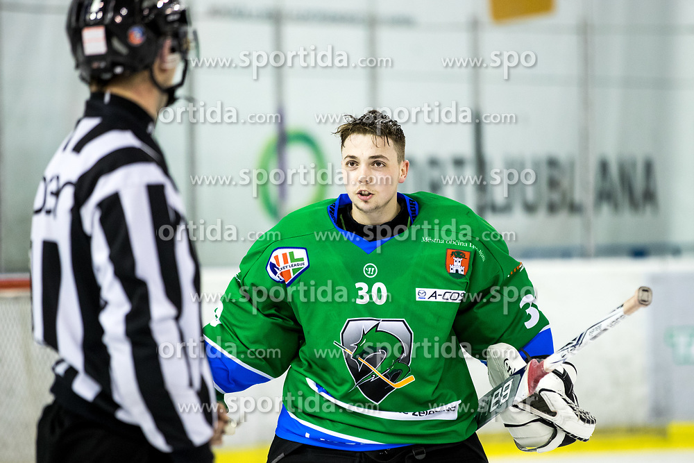 Tilen Spreitzer of Olimpija during ice hockey match between HK SZ Olimpija vs HDD SIJ Acroni Jesenice in Final of Slovenian League 2017/18, on April 10, 2018 in Hala Tivoli, Ljubljana, Slovenia. Photo by Matic Klansek Velej / Sportida