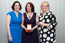 Pictured is, from left, Lincolnshire Co-operative chief executive Ursula Lidbetter, Joanna Proctor, Lincolnshire Co-operative president Amy Morley<br /> <br /> Lincolnshire Co-operative long service awards 2015, held at The Showroom, Tritton Road, Lincoln.<br /> <br /> Date: September 23, 2015<br /> Picture: Chris Vaughan/Chris Vaughan Photography