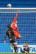Hannah Hampton (GK) (Birmingham) saves the ball during the FA Women's Super League match between Brighton and Hove Albion Women and Birmingham City Women at the American Express Community Stadium, Brighton and Hove, England on 17 November 2019.