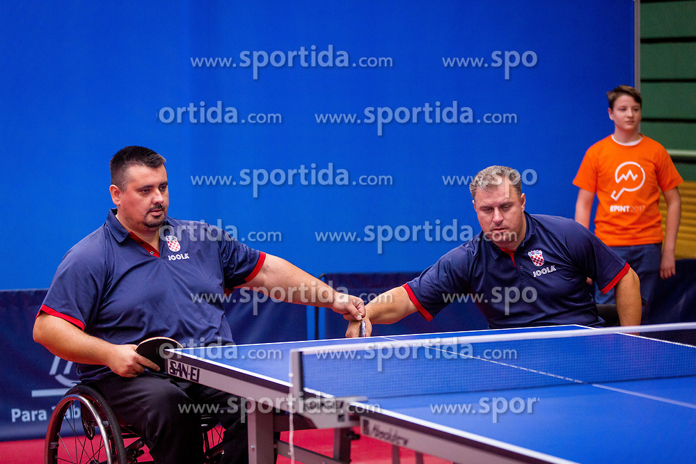 CROATIA (SPALJ Tomislav and KRIZANEC Zoran) during day 4 of 15th EPINT tournament - European Table Tennis Championships for the Disabled 2017, at Arena Tri Lilije, Lasko, Slovenia, on October 1, 2017. Photo by Ziga Zupan / Sportida