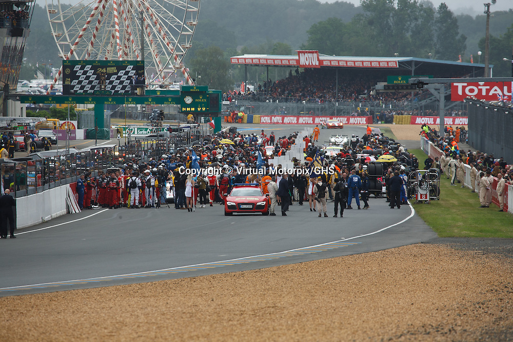 Before the start at the Le Mans 24H race in 2013