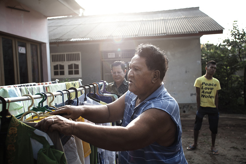 JAKARTA, INDONESIA, MARCH 2013: Yoti, the oldest transgender living in Mami Yuli's house.