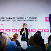 MAY 29, 2018--MIAMI, FLORIDA<br /> Dr. Ann Markusen, from the University of Minnesota, during her talk as part of the By the People: Designing a Better America lectures at Miami Dade College's Freedom Tower .<br /> (PHOTO BY ANGELVALENTIN/FREELANCE)