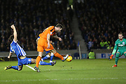 Ipswich Town striker Daryl Murphy (9) scores the opening goal 0-1 during the Sky Bet Championship match between Brighton and Hove Albion and Ipswich Town at the American Express Community Stadium, Brighton and Hove, England on 29 December 2015. Photo by Phil Duncan.