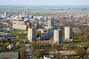 Nederland, Zuid-Holland, Zoetermeer, 04-03-2008; nieuwbouw in de wijk Buyttenwegh - De Leyens; wonen, woningbouw, stadsuitbreiding, flats, torenflats, woonwijk, jaren '60; jaren zestig. .luchtfoto (toeslag); aerial photo (additional fee required); .foto Siebe Swart / photo Siebe Swart