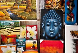 Art, Ubud Market, Bali, Indonesia.