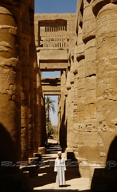 The Temples Of Karnak On The East Bank Of Luxor Along The Nile River; Luxor Egypt.