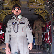 Pakistani Army Pilot.  The Pakistani Army makes numerous flights daily to deliver relief goods to the victims of the earthquake.
