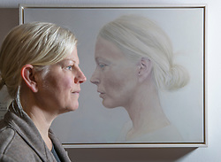 An Edinburgh College of Art graduate&rsquo;s prize-winning entry in a prestigious, worldwide portrait competition will go on show in Scotland for the first time this winter. The 2017 BP Portrait Award exhibition, which opens at the Scottish National Portrait Gallery on 18 December, will feature 53 stand-out works selected from 2,580 entries, by artists from 87 countries, including Breech! by Benjamin Sullivan which took this year's first prize.<br /> <br /> Pictured: Dutch Artists Angela Repping who lives in North Berwick with her work Profile, a portrait of her friend Kim