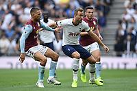 Football - 2019 / 2020 Premier League - Tottenham Hotspur vs. Aston Villa<br /> <br /> Tottenham Hotspur's Harry Kane battles with Aston Villa's Conor Hourihane, at The Tottenham Hotspur Stadium.<br /> <br /> COLORSPORT/ASHLEY WESTERN