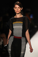 Kati Nescher walks the runway wearing BCBG MAXAZRIA Fall 2012 during Mercedes-Benz Fashion Week in New York City,  on February 9th, 2012