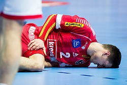 Alexander Hermann of Austria during handball match between National teams of Belarus and Austria on Day 1 in Preliminary Round of Men's EHF EURO 2018, on January 12, 2018 in Arena Zatika, Porec, Croatia. Photo by Ziga Zupan / Sportida