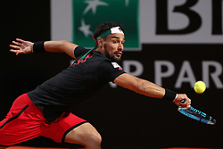May 14, 2018 - Rome, Rome, Italy - 14th May 2018, Foro Italico, Rome, Italy; Italian Open Tennis; Fabio Fognini (ITA) in action during his match won 6-3, 6-1 against Gael Monfils (FRA)  Credit: Giampiero Sposito/Pacific Press  (Credit Image: © Giampiero Sposito/Pacific Press via ZUMA Wire)