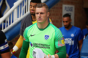 Portsmouth goalkeeper Craig MacGillivray (15) running out before the EFL Sky Bet League 1 match between Peterborough United and Portsmouth at London Road, Peterborough, England on 15 September 2018.