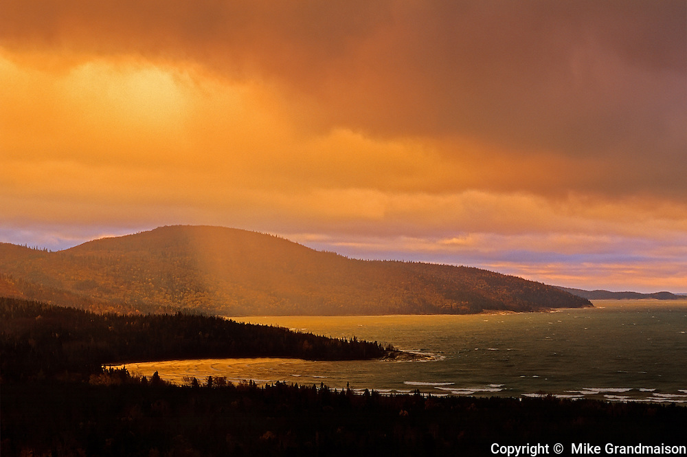 Storm light on Lake Superior<br /> North shore of Lake Superior<br /> Ontario<br /> Canada