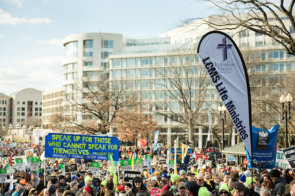 Participants walk in the 2015 March for Life on Thursday, Jan. 22, 2015, in Washington, D.C. LCMS Communications/Erik M. Lunsford