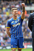 Jake Reeves midfielder for AFC Wimbledon (8) before the Sky Bet League 2 play off final match between AFC Wimbledon and Plymouth Argyle at Wembley Stadium, London, England on 30 May 2016. Photo by Stuart Butcher.