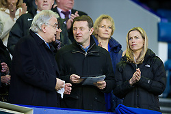 LIVERPOOL, ENGLAND - Saturday, January 4, 2014: Gerry and Kate McCann, parents of missing child Madeleine attend the Everton versus Queens Park Rangers FA Cup 3rd Round match at Goodison Park with chairman and owner Bill Kenwright. (Pic by David Rawcliffe/Propaganda)