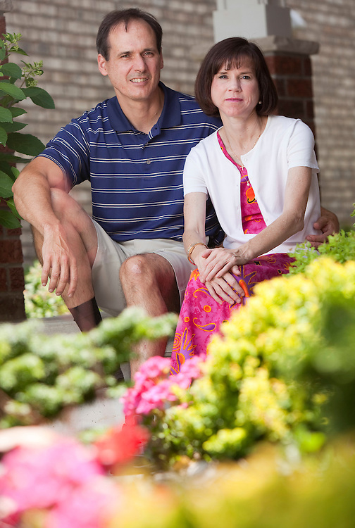 St. Thomas, ONT.: July 12, 2011 --  Colleen Aitken and her husband Roland Guignard are seen at their home in St. Thomas, Ontario where Collleen is still recovering following emergency surgery after undergoing 28 intra-uterine insemination treatments in an attempt to have a child. The unregulated procedures caused such damage that doctors had to remove her ovaries.<br /> (GEOFF ROBINS for National Post)