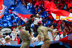 Tinie Tempah performs on the pitch before kick off - Mandatory byline: Rogan Thomson/JMP - 21/05/2016 - FOOTBALL - Wembley Stadium - London, England - Crystal Palace v Manchester United - FA Cup Final.