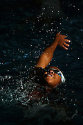011211-South Jefferson County, COLORADO-drswimmer-Dakota Ridge High School's Melba XXXXXX swims the backstroke during practice Wednesday, January 12, 2011 at The Ridge Recreation Center..Photo By Matthew Jonas/Evergreen Newspapers/Photo Editor