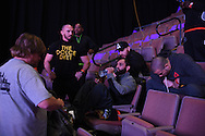 Johny Hendricks ACTION during weigh-ins at the Mandalay Bay Event Center in Las Vegas, Nevada on December 5, 2014.